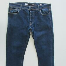 Lee Stovepipe L1 Jeans Mens Size W36 L34 Skinny Fit Blue Denim Button Fly