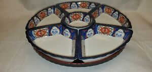 Japanese Divided Serving Dishes Platter With lazy susan Spinning Tray