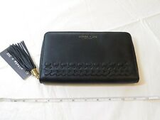 Olivia & Joy New York The Wren Collection Zip Around Wallet Black Clutch NWT
