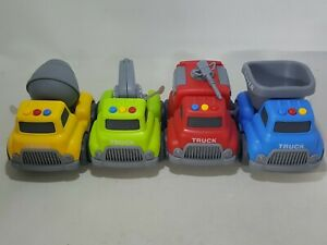 FUN LITTLE TOYS Construction Vehicles Truck Toys Set for Toddlers, 4 PCs
