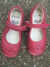 Toddler Girls Clarks Red Shoes Size 7 1/2