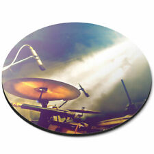 Round Mouse Mat - Drum Kit Music Band Gig Office Gift #16491