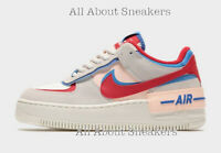 """Nike Air Force 1 Shadow """"Multi Red"""" Women's Trainers Limited Stock All Sizes"""