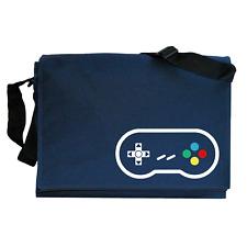 SNES Super Nintendo Joypad Emblem Navy Blue Messenger Shoulder Bag
