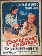 Affiche COUP DE FOUET EN RETOUR Backlash RICHARD WIDMARK Western 120x160cm