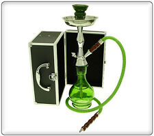 "18"" 1 Hose Junior Hookah with Case GREEN"