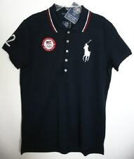 Ralph Lauren Womens Navy London Official Outfitter Olympic Polo Shirt (M) NWT