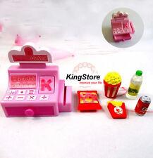 Mini Store Shop Cash Register Kit Toy 6pcs for Barbie Fashion Doll Accessories