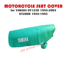 YAMAHA DT125R 1988-2003 DT200R 1988-1995 PALE GREEN SEAT COVER & STRAP