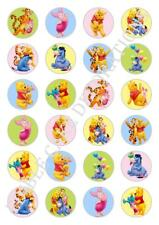 24 x Winnie The Pooh Cupcake Fairy Cake Toppers Edible Rice Paper decorations