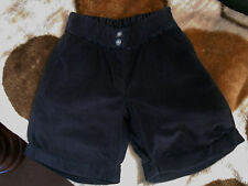 MOTHERCARE girls black cotton fashion formal occasion festive shorts age 4-5 yrs