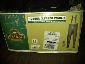 Red Head Rubber Cleated Waders Men's 11 NIB w suspenders