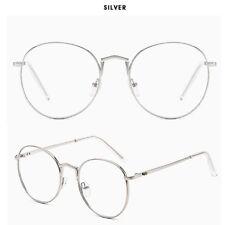 Retro Round Metal Frames Eyeglass Clear Lens Glasses Blue Light Blocking Unisex