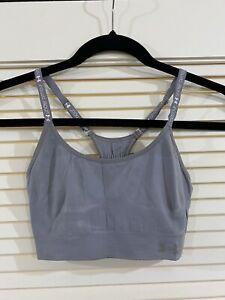 women's under armour ua gray light to medium impact ports bra size small