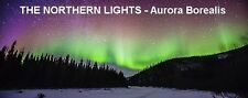 PANORAMA FRIDGE MAGNET of THE NORTHERN LIGHTS & AURORA BOREALIS