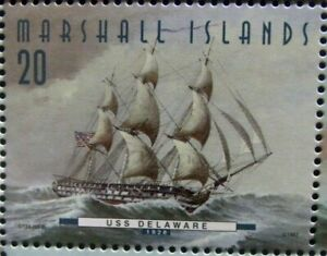Marshall Islands stamp -USS Delaware 1828 -Fighting Ships US 50 states- #50-8