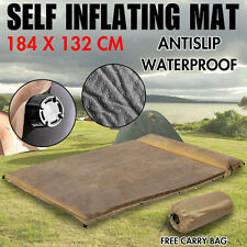 $75 Double Self inflating Mattress Sleeping Mat Air Pad Bed Camping Hiking AU