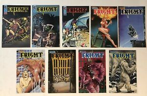 Fright! Eternity Comics 9 Book HORROR Lot 1 2 4 5 7 8 9 10 11 of 12 See Scans