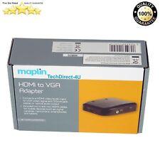 Maplin N58NX Micro Mini Standard HDMI Male to Female VGA Adapter