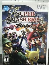 Super Smash Bros. Brawl Nintendo Wii 2008 Brothers No Manual Mario Pikachu
