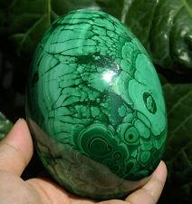 "4.1"" Huge 100% Natural Green Geode MALACHITE CRYSTAL Sphere Egg Gemstone #5304"