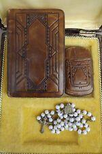 1935s Communion Set - Roman Saint Gospels Church Book & Rosary - Case