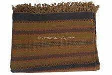 Indian Hand Woven Kilim Rug Wool Jute Area Rugs Oriental Floor Carpet 4X6 Throw