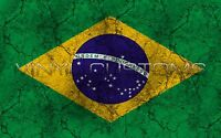 "Brazil Flag Vinyl Decal Sticker JDM - 5"" in."