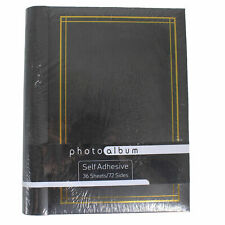 Self Adhesive Photo Album Spiral Ring Binder 36 Sheets 72 Sides - Black