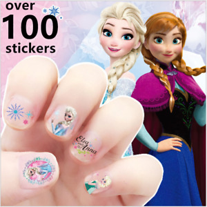 Frozen Anna Elsa nail stickers Kids Adhesive Nail Art Decals Party bag Fillers