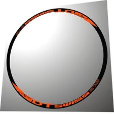 DT SWISS 27,5 ORANGE  MTB 27,5 COLL REPLACEMENT RIM/HUB DECAL SET FOR 2 RIMS