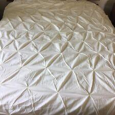 Kotton Culture 100% Egyptian Cotton Duvet Cover Pinched Pleat 66�x88� Ivory Zip
