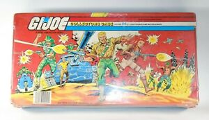 1984 GI Joe COLLECTORS CARRYING CASE holds 24 figures w/trays Tara Toy Corp JTC