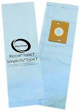 6 Replacement Type F Vacuum Bags for Riccar Supralite RSL1A RSL3 RSL4 RSL5 R10E