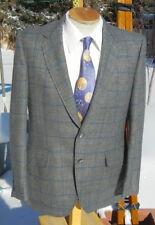 New listing Vintage 1960s Windowpane Blazer Sport Coat 40R - Mod Woolen Jacket by Kingsridge