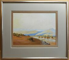 Umgeni River. Gouache by listed South African artist Leo Francois RBC c1930