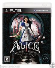 Used PS3 Alice: Madness Returns SONY PLAYSTATION 3 JAPAN JAPANESE IMPORT