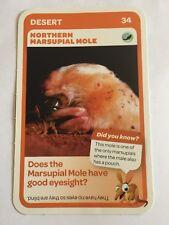 Taronga Zoo Woolworths Aussie Animal Card #34 Northern Marsupial Mole