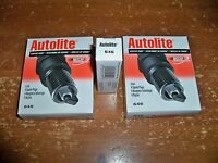 LOT OF 8 -- **AUTOLITE -- 646 COPPER CORE SPARK PLUGS** -- 2 Boxes of 4