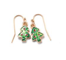 Avon Christmas Holiday Fun Christmas Tree Enamel Earrings Costume Jewelry