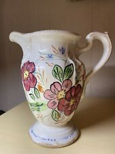"Milady 40 oz Pitcher Blue Ridge Southern Potteries 8.5"" Hand Painted USA"