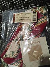 Longaberger~ Holiday Botanical Stripe Fabric Liner 2006 Holiday Helper Basket