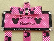 Hair Bow Holder - Personalized Minnie Mouse - Any Message