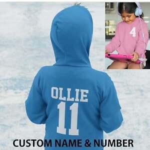 Kids Personalised Sport Hoodie Team Kit NAME & NUMBER Football Netball School