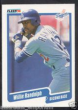 Fleer 1990 Baseball Card - No 406 - Willie Randolph - Dodgers