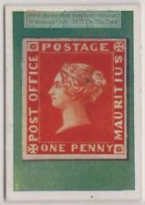 1930s Trade Ad Card - 1847 Mauritius Post Office 1 Penny Postage Stamp