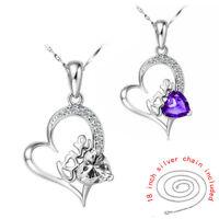 Simple Fashion Distinctive Cutting Zircon Crystal Charm Necklace Jewelry JDZ96