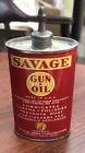Vintage SAVAGE Gun Oil Can Lead Oiler Full