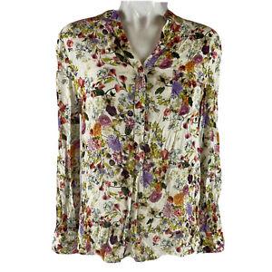 Haute Hippie Medium Floral Popover Blouse -wsh
