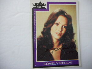 Jaclyn Smith signed/auto 1977 TOPPS CHARLIES ANGELS Lovely Kelly Trading Card